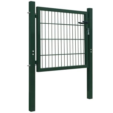 2D Bramka ogrodowa pojedyncza Zielona 106 x 130 cm[2/5]