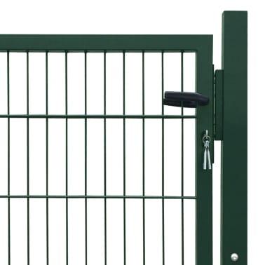 2D Bramka ogrodowa pojedyncza Zielona 106 x 130 cm[4/5]