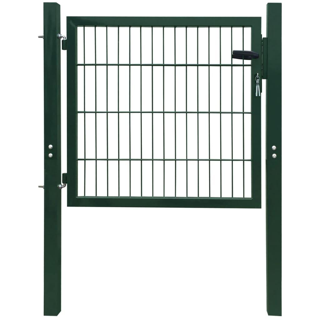 2D plotová branka (jednokřídlá), zelená 106 x 150 cm