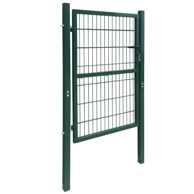 2D Kiemo Vartai (Vienvėriai), Žali, 106 x 210 cm[2/6]