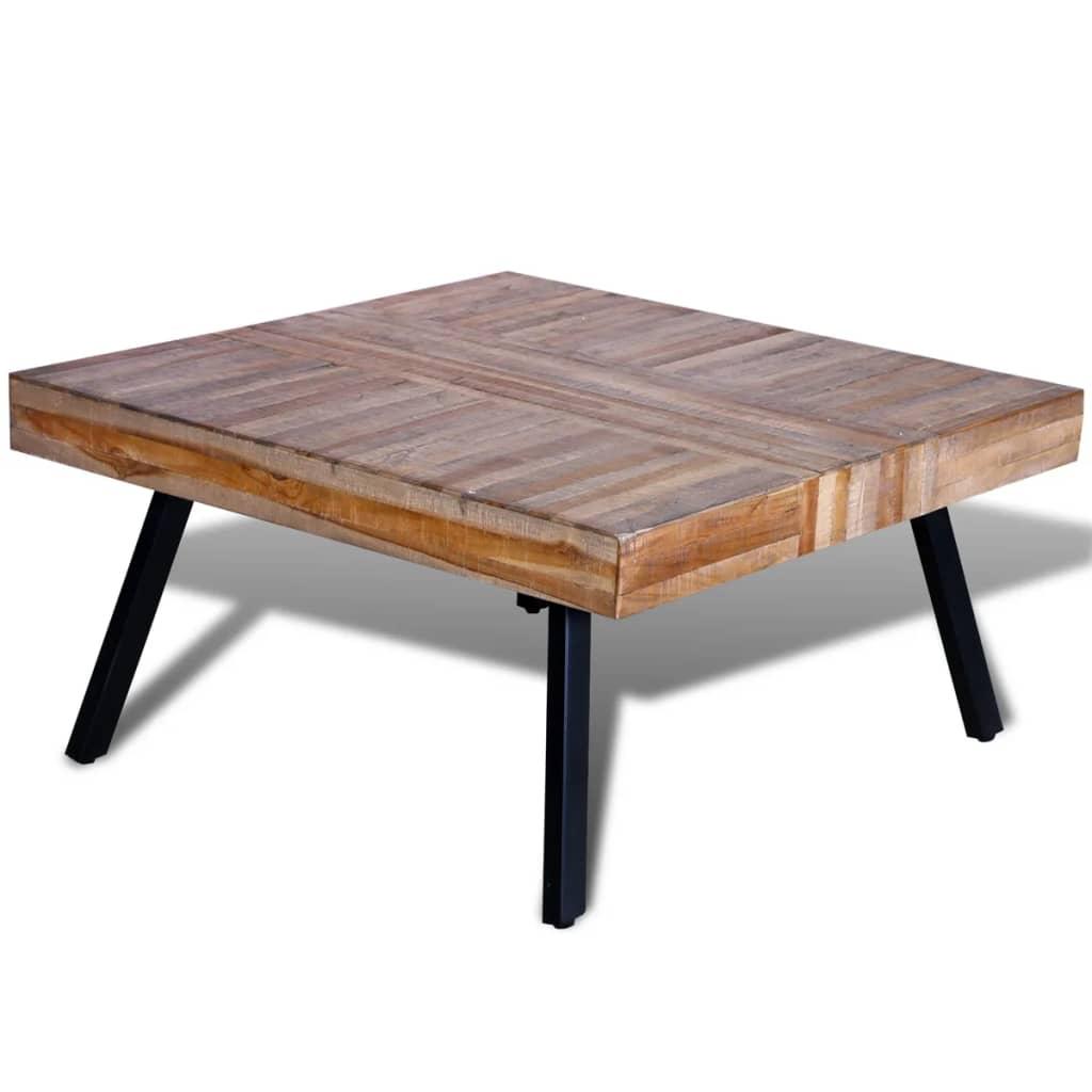 Konferenční stolek čtvercový regenerovaný teak