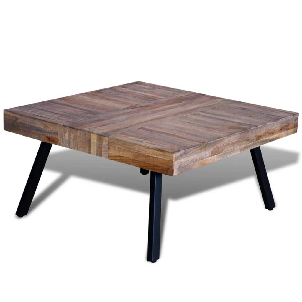 99241706 couchtisch quadratisch recyceltes holz teak. Black Bedroom Furniture Sets. Home Design Ideas
