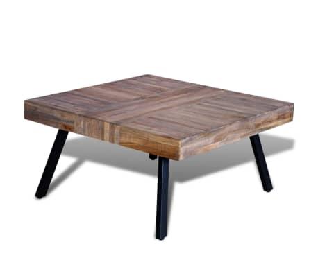 acheter vidaxl table basse carr e bois de teck de r cup ration pas cher. Black Bedroom Furniture Sets. Home Design Ideas