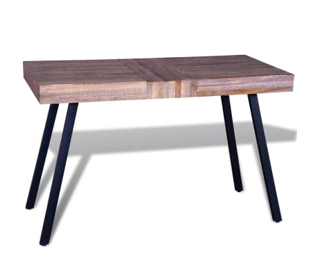 vidaXL Table Teck recyclé[3/8]