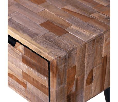 acheter meuble tv avec 4 tiroirs en teck recycl pas cher. Black Bedroom Furniture Sets. Home Design Ideas