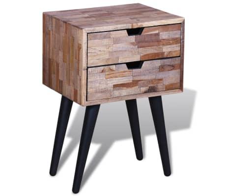 vidaXL Side Cabinet with 2 Drawers Reclaimed Teak Wood[3/9]