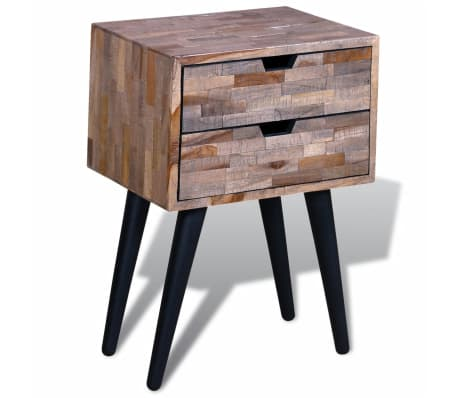 vidaXL Side Cabinet with 2 Drawers Reclaimed Teak Wood[4/9]