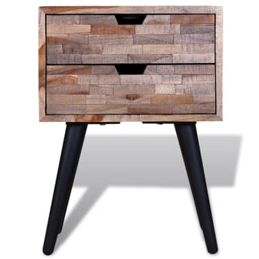 vidaXL Side Cabinet with 2 Drawers Reclaimed Teak Wood[7/9]