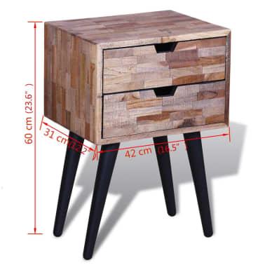 vidaXL Side Cabinet with 2 Drawers Reclaimed Teak Wood[9/9]