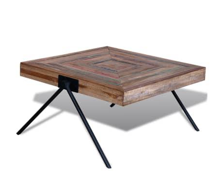 Vidaxl Table Basse Avec Pieds En V Bois De Teck Recycle