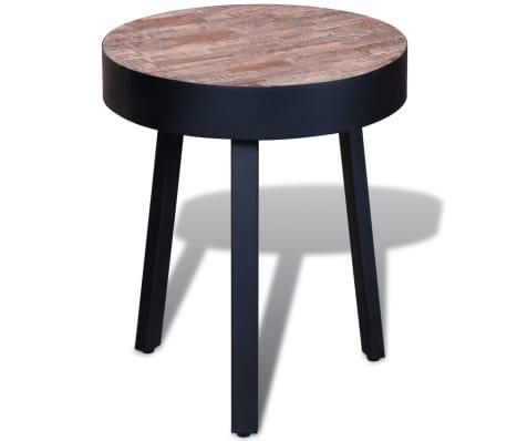 vidaXL Žurnalinis staliukas, perdirbta tikmedžio mediena[1/6]