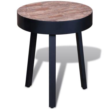 vidaXL End Table Round Reclaimed Teak Wood[1/6]
