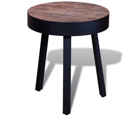 vidaXL Žurnalinis staliukas, perdirbta tikmedžio mediena[4/6]
