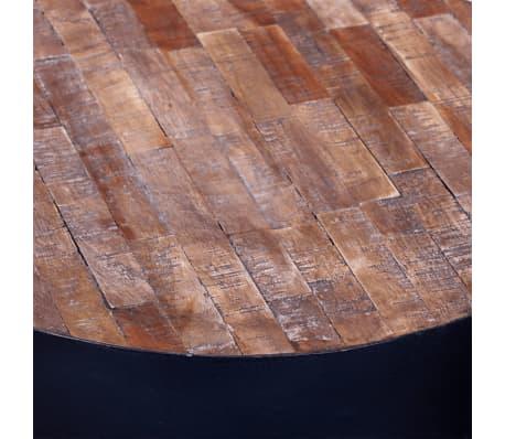 vidaXL End Table Round Reclaimed Teak Wood[5/6]