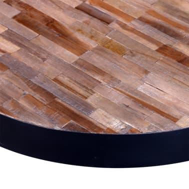 vidaXL Kavos staliukas, apvalus, perdirbta tikmedžio mediena[5/6]
