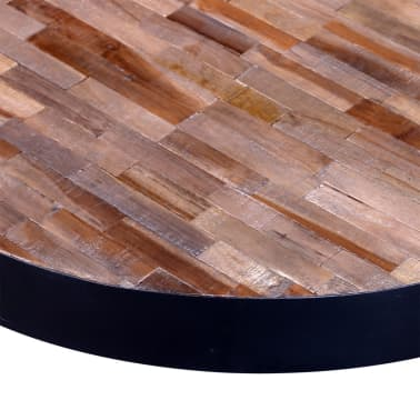 vidaXL Table basse ronde Bois de teck recyclé[5/6]