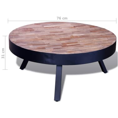 vidaXL Table basse ronde Bois de teck recyclé[6/6]