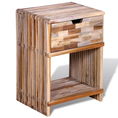 vidaXL Nightstand with Drawer Reclaimed Teak Wood[5/10]