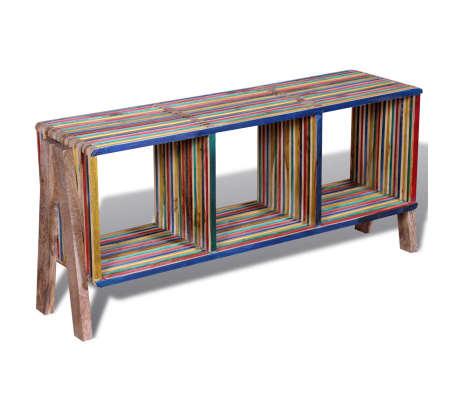 Acheter Meuble Tv Empilable Color En Teck Recycl Avec  tagres