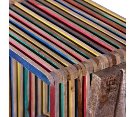meuble tv empilable color en teck recycl avec 3 tag res. Black Bedroom Furniture Sets. Home Design Ideas