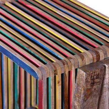 acheter meuble tv empilable color en teck recycl avec 3. Black Bedroom Furniture Sets. Home Design Ideas