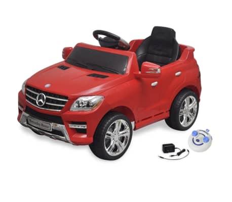 Voiture électrique 6 V avec télécommande Mercedes Benz ML350 rouge[1/7]