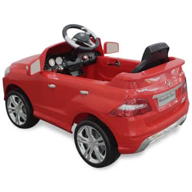 Voiture électrique 6 V avec télécommande Mercedes Benz ML350 rouge[4/7]