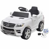 Sähköinen Istuttava-auto Mercedes Benz ML350 Valkoinen 6V Kauko-ohjaus
