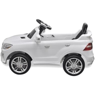 Mașină electrică Mercedes Benz ML350, cu telecomandă, 6V, alb[3/7]