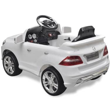 Mașină electrică Mercedes Benz ML350, cu telecomandă, 6V, alb[4/7]