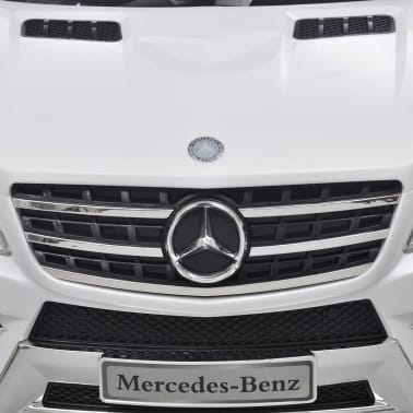 Mașină electrică Mercedes Benz ML350, cu telecomandă, 6V, alb[6/7]