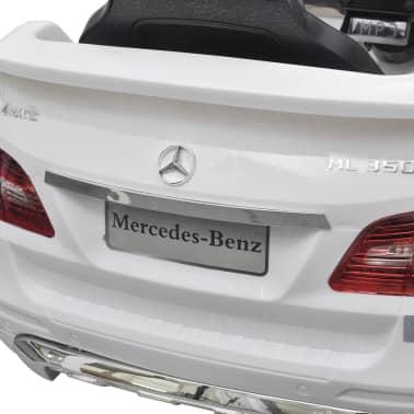 Mașină electrică Mercedes Benz ML350, cu telecomandă, 6V, alb[7/7]