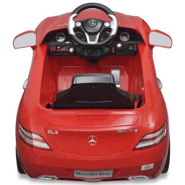 Elekriline lasteauto Mercedes Benz SLS AMG puldiga, punane[4/7]