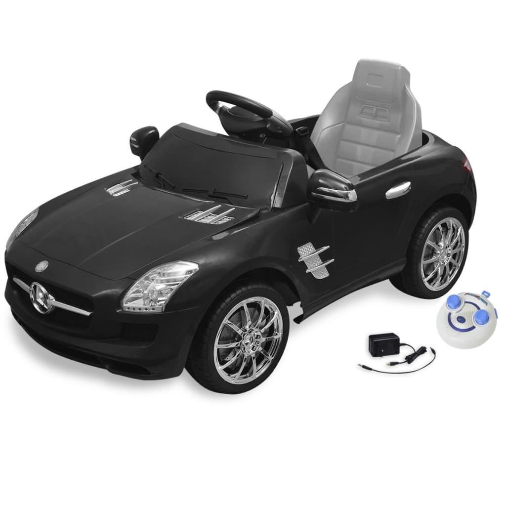 99910098 Elektroauto Ride-on Mercedes Benz SLS AMG Schwarz 6V mit Fernbedienung