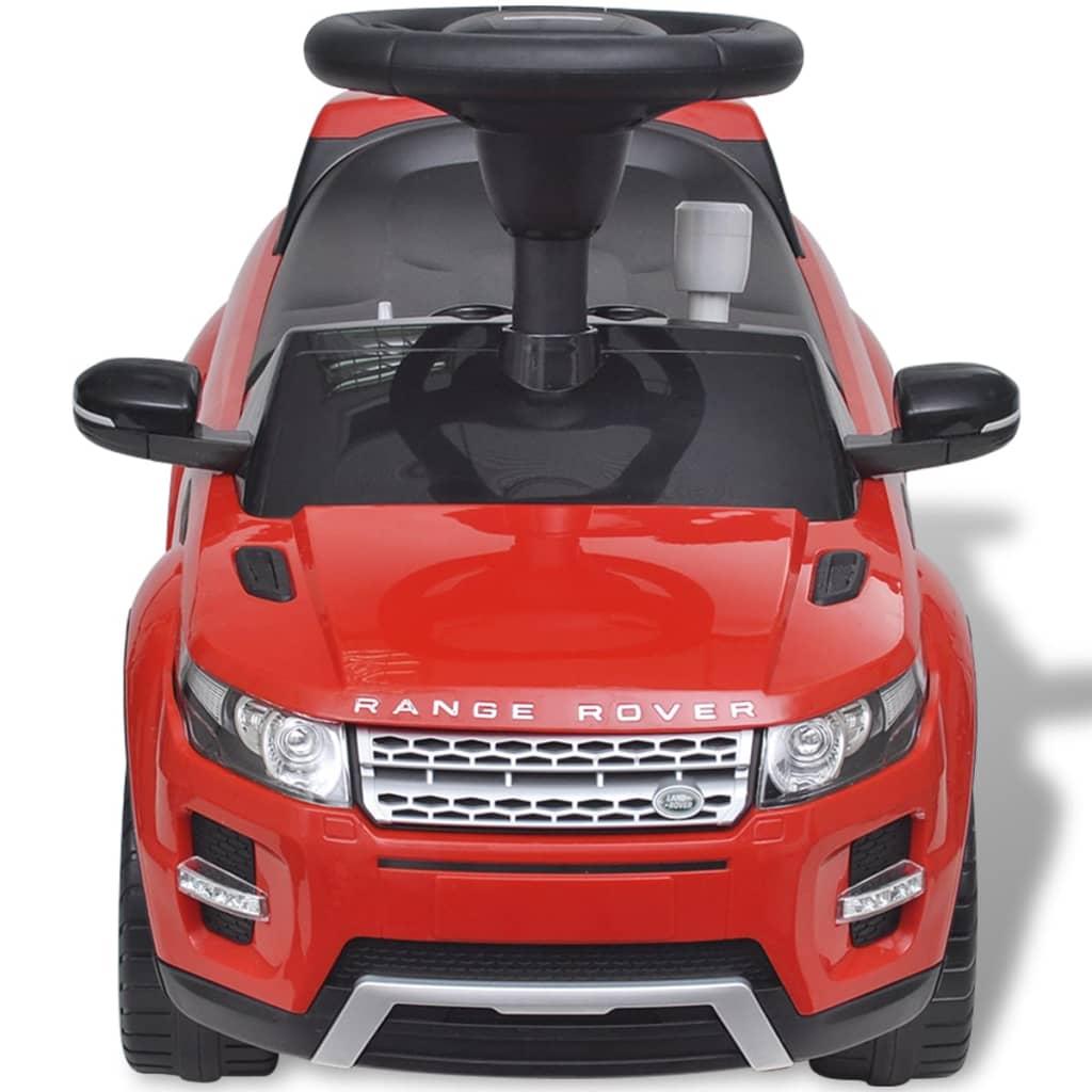 VidaXL Loopauto Land Rover 348 met muziek rood