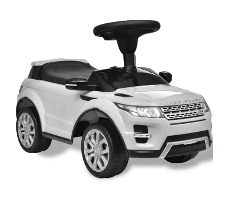 Detské pojazdné auto s rádiom, biele Land Rover 348