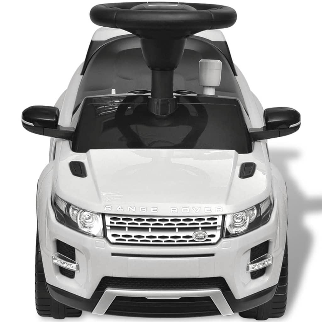 vidaXL Loopauto Land Rover 348 met muziek wit