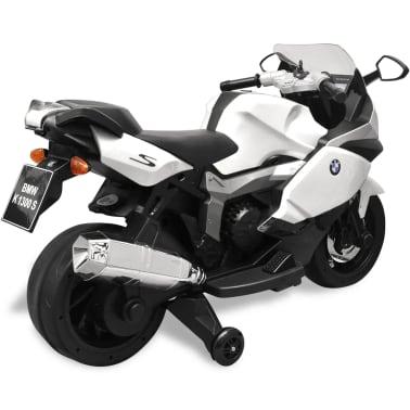 Motocicletă electrică pentru copii BMW 283, 6V, alb[3/11]