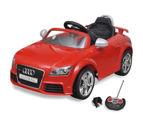 voiture lectrique pour enfant audi tt rs rouge avec. Black Bedroom Furniture Sets. Home Design Ideas