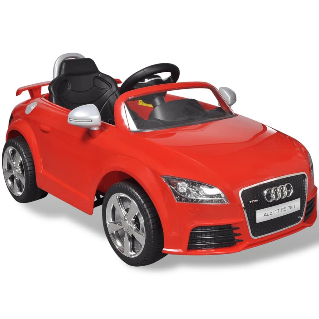 Elektrische auto Audi TT RS met afstandsbediening rood