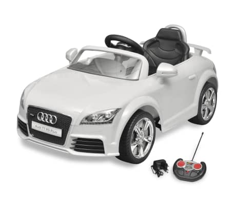 Mașină Audi TT RS pentru copii cu telecomandă, alb