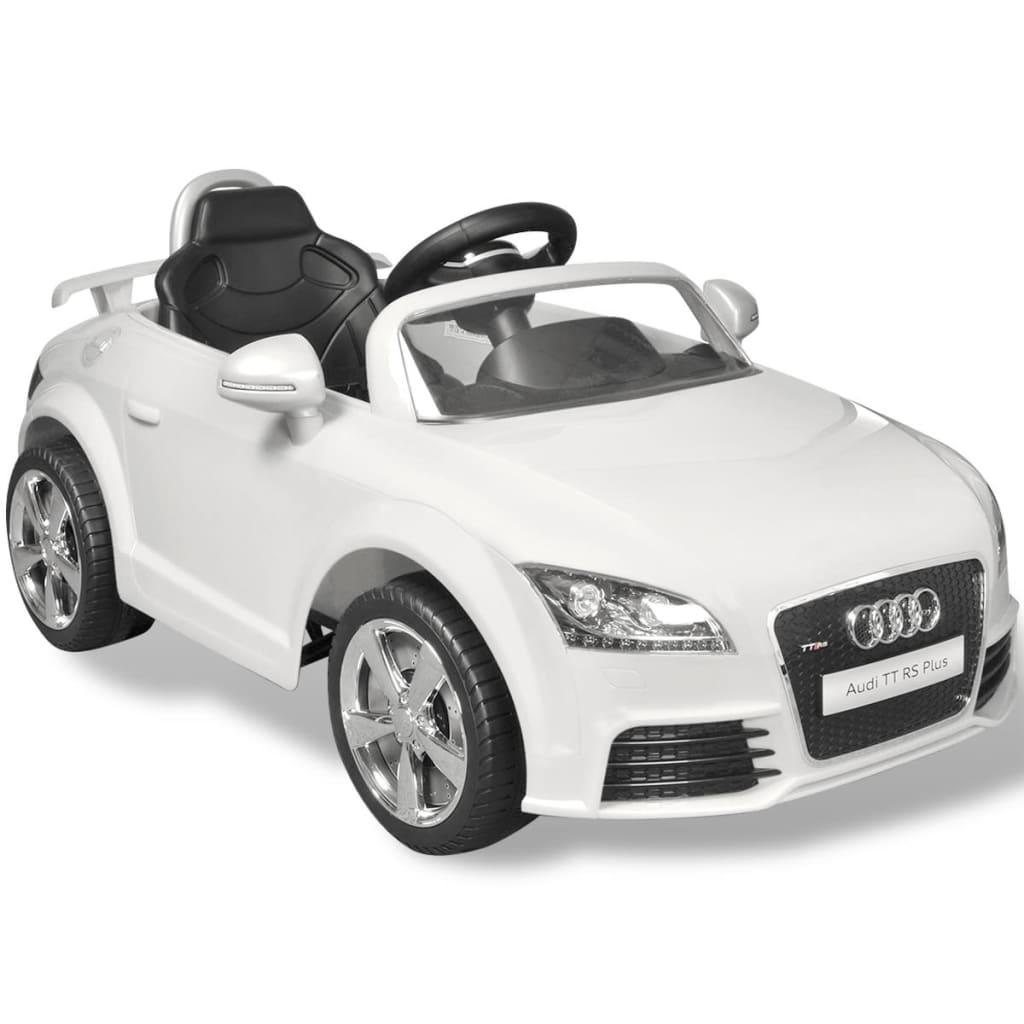 Elektrische auto Audi TT RS met afstandsbediening wit