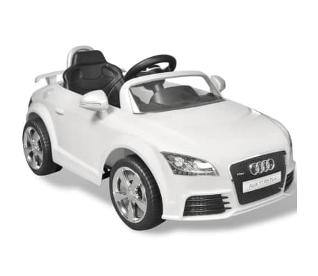 acheter voiture lectrique pour enfant audi tt rs blanche. Black Bedroom Furniture Sets. Home Design Ideas
