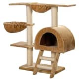 "Cat Tree 41"" Beige Plush"