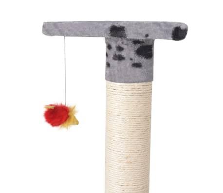 "Cat Tree 75"" Gray with Paw Prints Plush[5/6]"