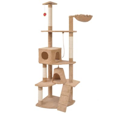 "Cat Tree 75"" Beige Plush[1/6]"