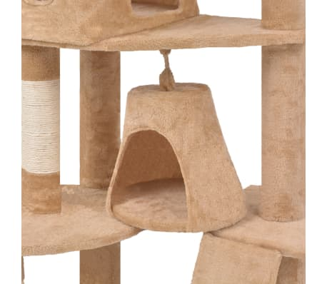 "Cat Tree 75"" Beige Plush[4/6]"