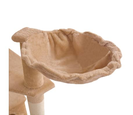 "Cat Tree 75"" Beige Plush[6/6]"
