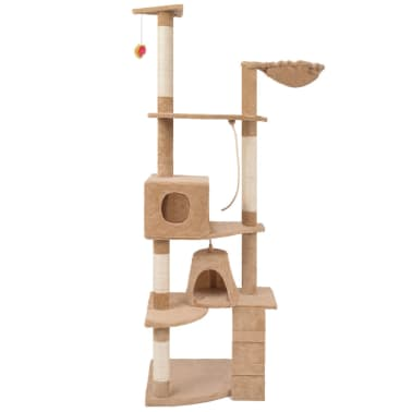 "Cat Tree 75"" Beige Plush[2/6]"