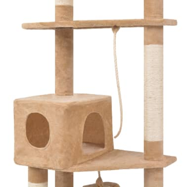 "Cat Tree 75"" Beige Plush[3/6]"